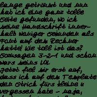 Meine Handschrift als Font